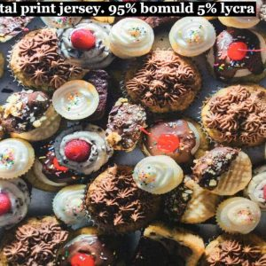 Jersey print med muffins