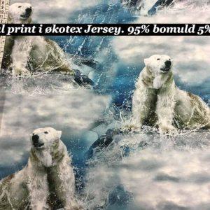 Jersey print med isbjørne
