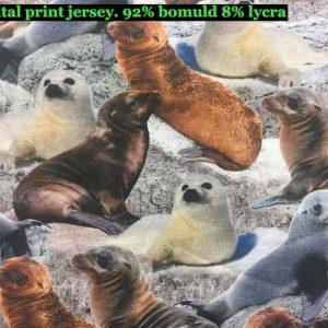 Jersey print med sæler