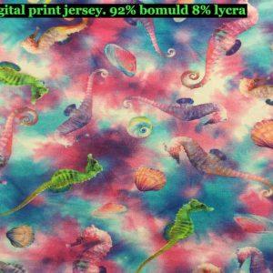 Jersey print med undervands tema