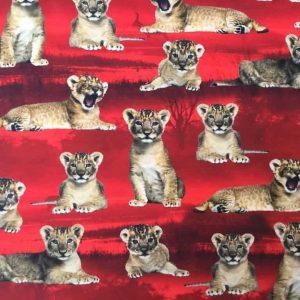 Jersey print med løveunger