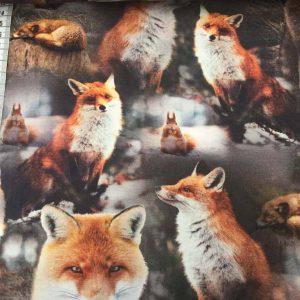 Jersey print med ræve