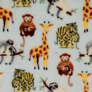 Wellness fleece med eksotiske dyr