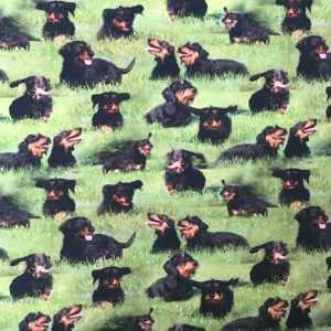 Jersey print with long-haired burial dogs