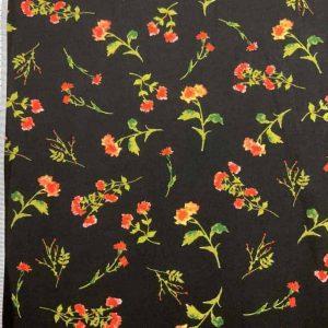 Viscose med røde blomster