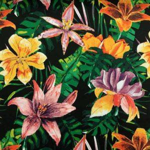 Viscose med farverige blomster
