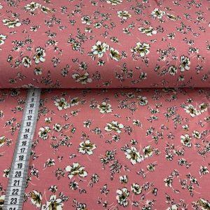 Viscose jersey med blomster (lys rosa)
