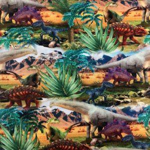 Jersey print med dinosaurer