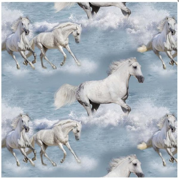 Jersey with white horses