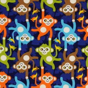 Jersey med aber - blå