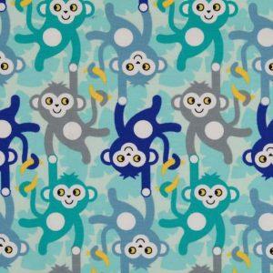 Jersey med aber - lyseblå