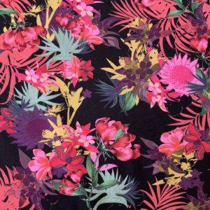 Jersey print med blomster