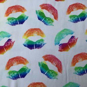 Jersey print med læber