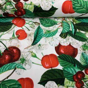 Jersey print med kirsebær