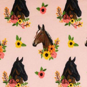Jogging med heste - lyserød