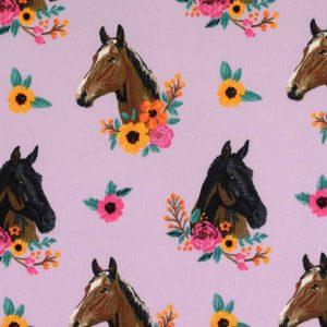 Jogging med heste - lilla