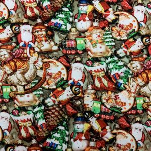 Jersey print med jule figurer
