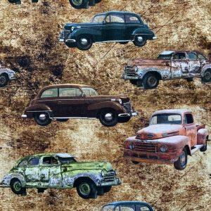 Jersey print med gamle biler