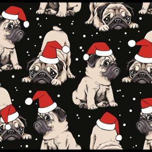 Jersey print med julehunde