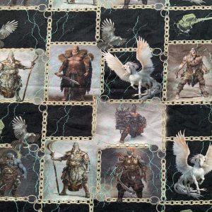 Jersey print med nordisk mytologi
