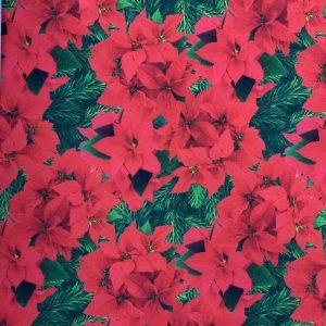 Jersey print med julestjerner