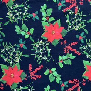 Jersey print med julestjerner - sort