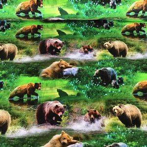 Jersey print med bjørne