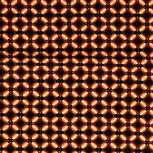Viscose med flot mønster - brun