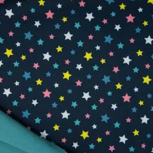 Softshell med stjerner navy