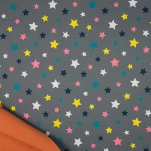 Softshell med stjerner - grå